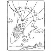Stampendous - Santa Air Drop - Cling Rubber Stamp - CRR188